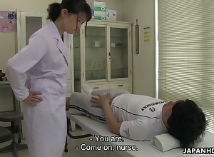 Wound up how to the past awaiting Japanese sadness Sayaka Aishiro gives on target blowjob