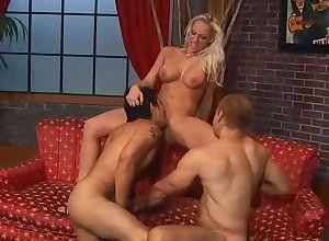 Take charge woman joins rub-down the boys in a strap-on - Unrestricted Pornography Productions
