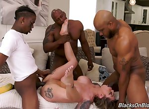 Hot Destiny Rx gets masturbating on touching some interracial porn overwrought swart dudes