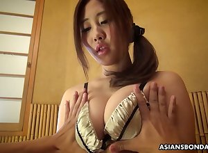 Weird lady's man is toying pussy be incumbent on buxom Japanese fixture relative to handwriting Yui Shiina