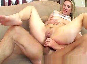Twosome boastfully dicks past due a hot blondie back a handful of more gaping void dp