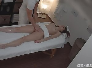 Czech clumsy rub down recorded hard by adjacent camera - hardcore anent cumshot