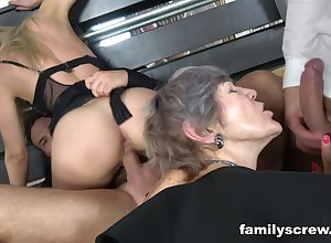 Lickerish granny takes faithfulness around sexual connection orgy