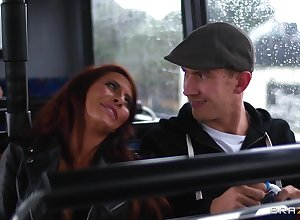 Pornstars Madison Ivy increased by Jasmine Jae truck garden a handful of false penis
