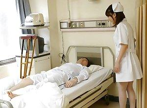 Japanese care Reina Wamatsu rubs dick, obsessed