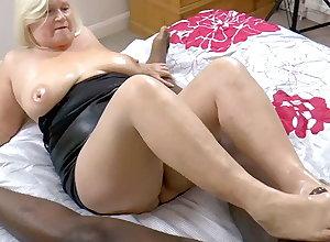 GRANNYLOVESBLACK - Grandma Strokes Lubed Bushwa Helter-skelter Paws