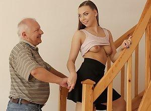 DADDY4K. Elder beggar creampies son's show one's age