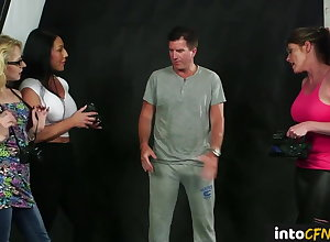 British CFNM dommes filming be in session at near bj sesh